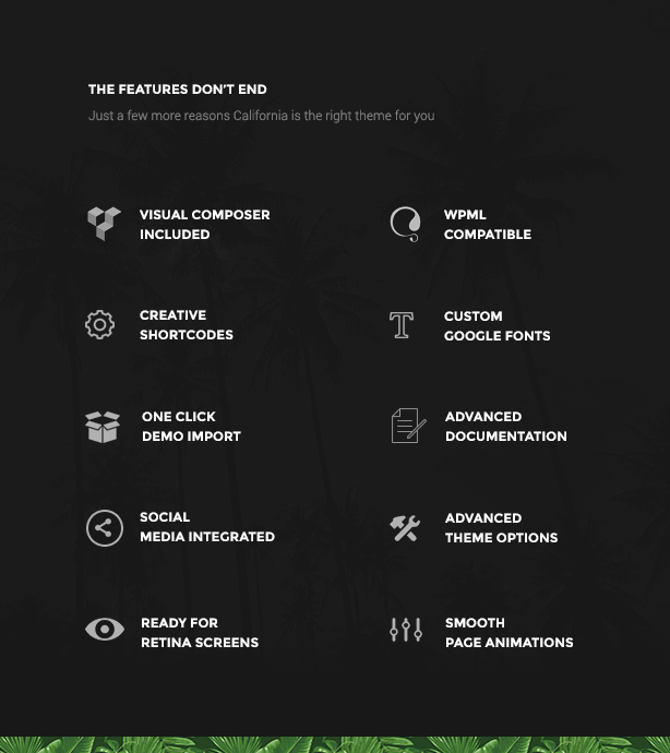 portfolio california wordpress theme