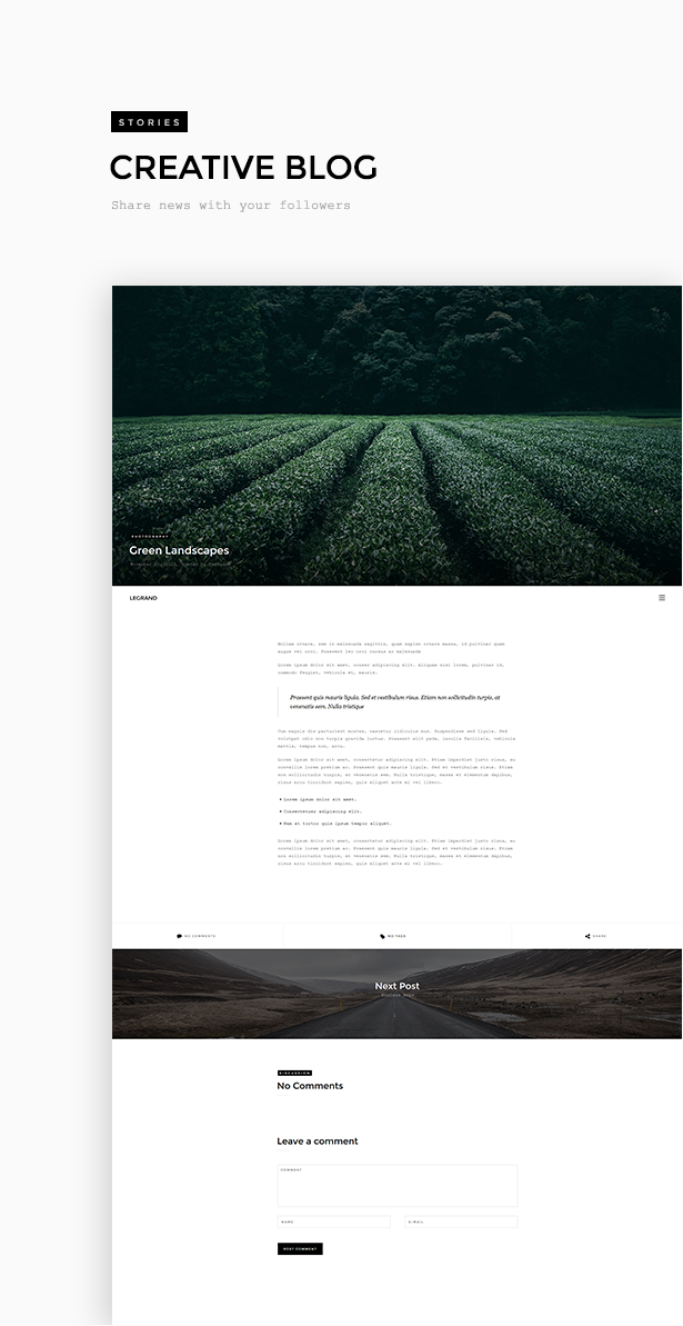 Legrand - Creative Photography Portfolio Theme