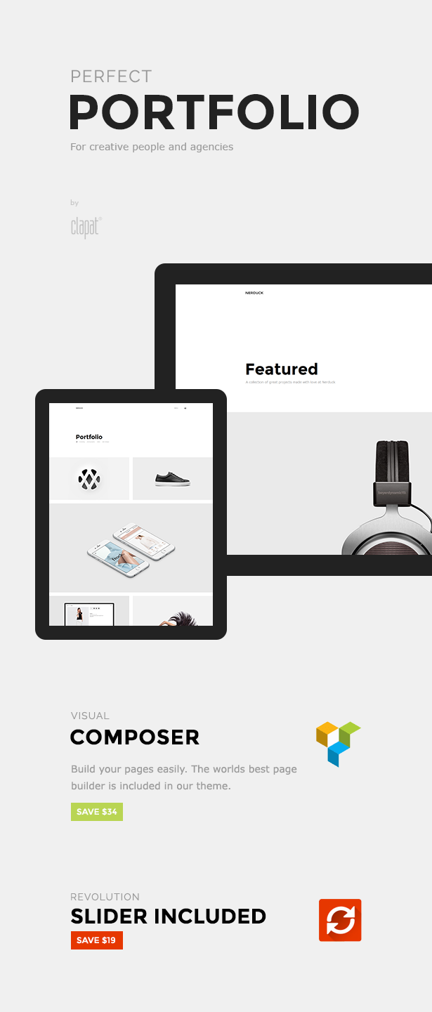 Nerduck - Minimal and Creative Portfolio Theme