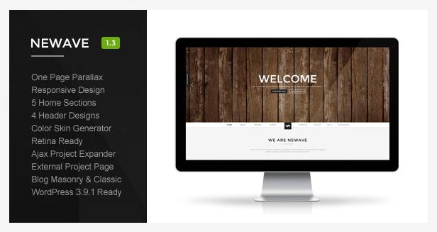 Newave - Wordpress Responsive One Page Parallax - Creative WordPress